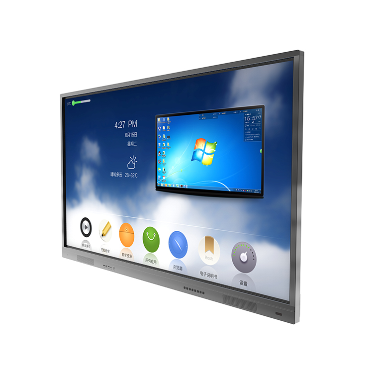 Kantoor School 43 49 55 65 70 75 86,98 Inch multi touch Smart Whiteboard LCD Touch Screen Interactieve Flat Panel
