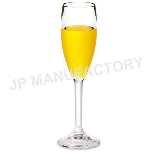 unbreakable 5.7OZ Polycarbonate tall Flute glass for Champagne