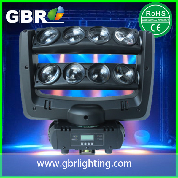 GBR 8x10w led beam spider moving head light DJ night club