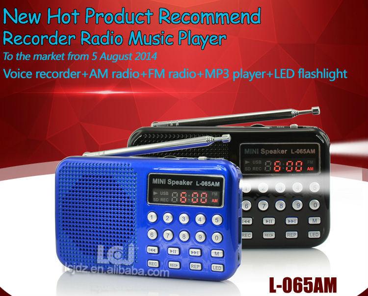 Genuine L-065am Portable Mini Mp3 Player Am Fm Radio Voice ...
