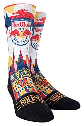 MLS New York Red Bulls Custom Athletic Crew Socks, Youth, City Skyline