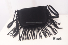 Young Girls Fringe Suede Shoulder Bag Spring Summer Fashion Handbags