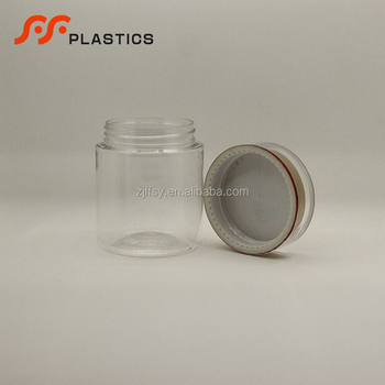 260ml Hot sale clear child proof  medicine pill plastic bottle manufacturer wide mouth capsule bottle with lids