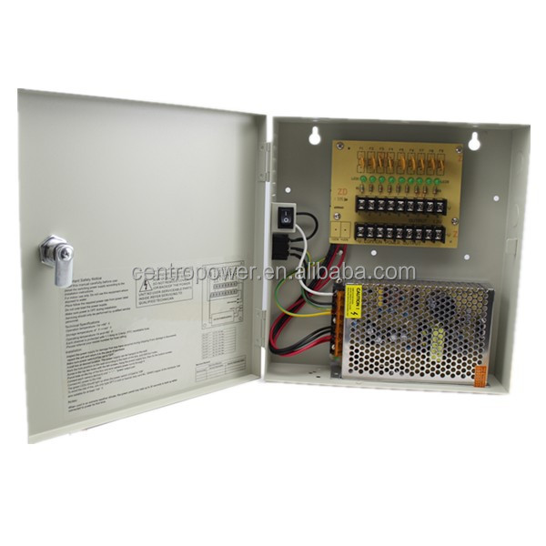 AC 110/240V DC12V 5A Steel Case output CCTV camera switching power supply box