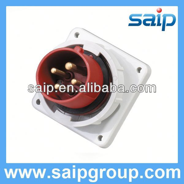 Waterproof Industrial Panel Mounted Plug and Socket pop up electrical outlet socket