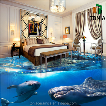 3D Bedroom Floor Tile Customized Size Flooring Tiles Cheap 3D Floor Tiles