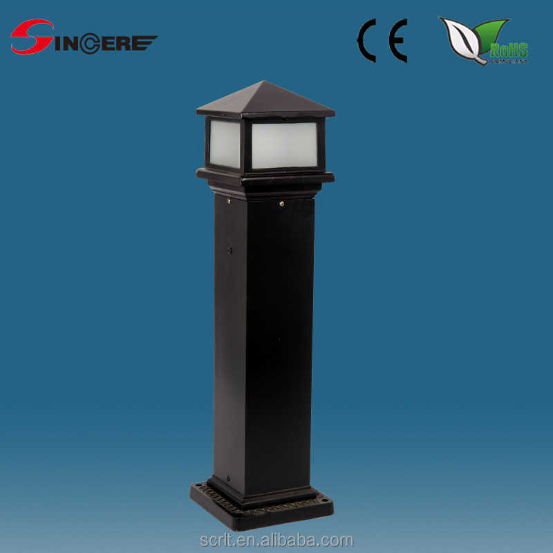 Bollards and Post Lamps 1 Light Outdoor Post Lamp IP43 Rated Cast Aluminium Matt Black