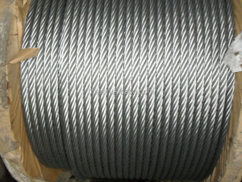 8*19S+FC ungalvanized elevator steel wire rope