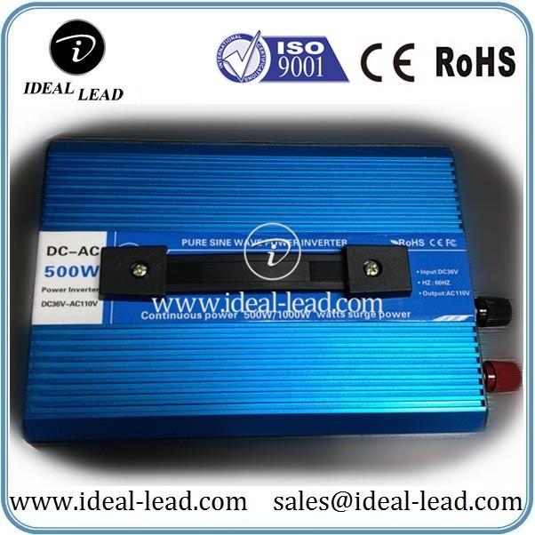 500W 36V DC to 110V AC pure sine wave inverter (2)