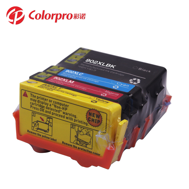 Colorpro remanufactured Ink cartridges 902XL 902 compatible for  HP OfficeJet Pro 6950/6951/6954/6956/6958 wholesales