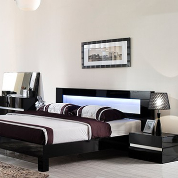 Modern Desigh Simple Latest Double Bed Black And White Painting Furniture  Bedroom Set Fancy Bed Design - Buy Black Bedroom Set,Painting ...