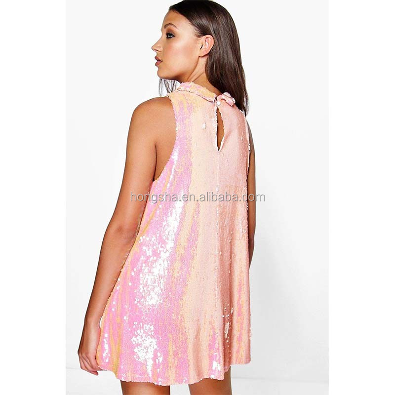 249908c4899 Latest Women Plus Size Sequin Dress High Neck Rockabilly Swing Dress HSD9301