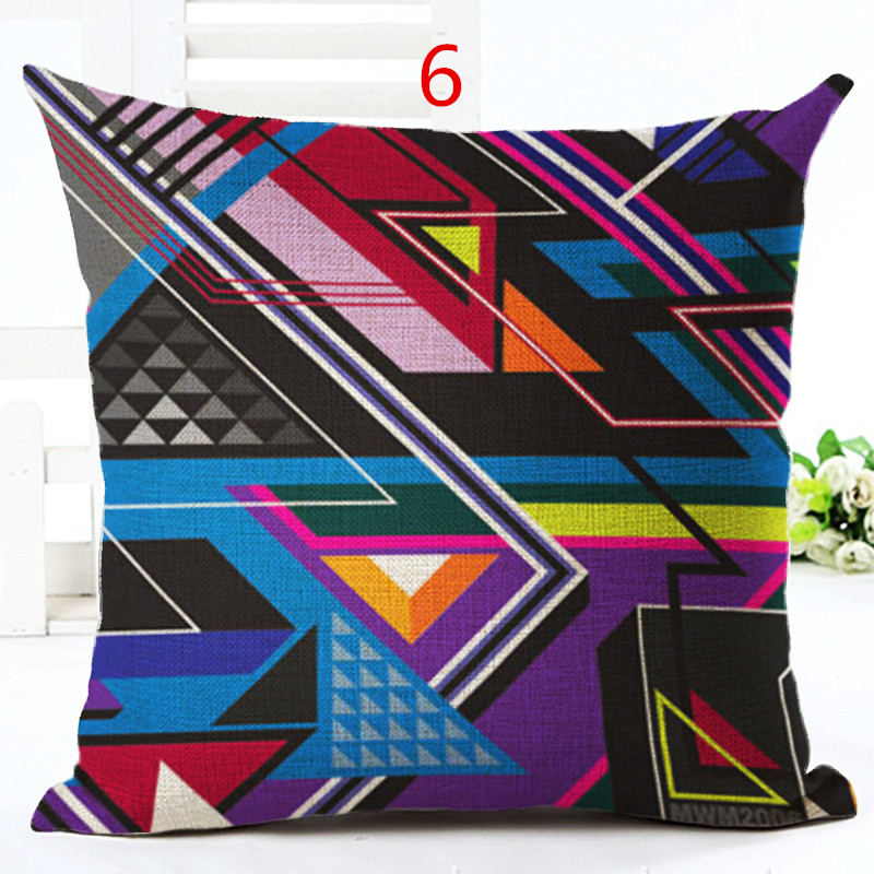 MYJ New Arrival Linen Cushion Geometric Printed <font><b>Bohemian</b></font> Style Cushion Pillow Throw <font><b>Home</b></font> <font><b>Decor</b></font> Couch Cojines