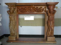 top sale classical yellow Stone marble Fireplace