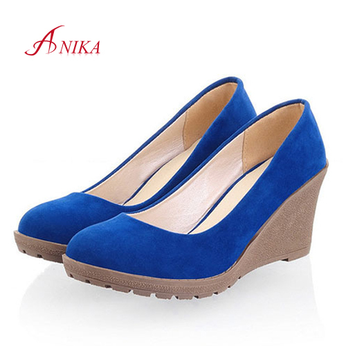 New 2015 Low Price Sexy Women High Heels Platform Pumps Fashion vintage woman Vogue Wedges PINK BLUE BLACK wedding shoes