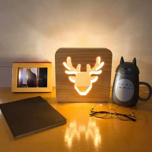 Wholesale Wood Table Lamp Set Led Table Lamp With Usb Charing Port