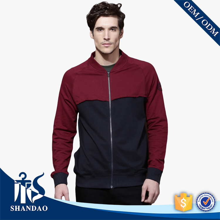 2017 Hot Sales Shandao Custom Two Colors Round Neck Simple Design Logo On Arm Breathable Jacket Sport
