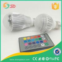LED buld 9W E27 Remote Control LED Bulb Light 16 Color Changing 85V~265V LED RGB Bulb