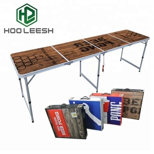 Hot Selling 8-Foot Outdoor Furniture Portable Tailgating Aluminum Folding Beer Pong Table for Party Game