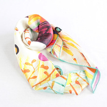 fashion custom printed silk scarf wholesale china