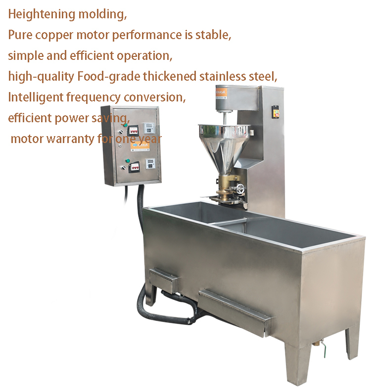 Commercial Meatball Making Machine Meat Ball Boiling Molding Tank 2 Machine Work Together