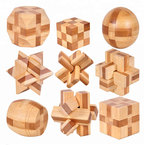 Eco Friendly Bamboo Wood Intelligence Toys For Kids Educational