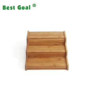 Tier Expandable Bamboo Spice Rack Step Shelf Organizer