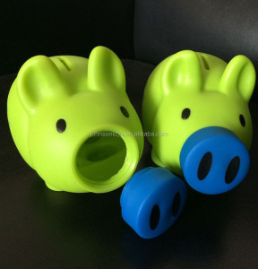CE ROSH EN71 coin saving plastic piggy bank