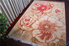Latest flower jacquard wool area rugs , office carpet