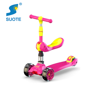 Stylish style flash wheel kids Scooter, kids toy 3 wheel foldable scooter for kids