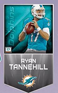 """Ryan Tannehill FATHEAD MURAL/BANNER Miami Dolphins Official NFL Vinyl Wall Graphic 29""""x16"""" INCH"""