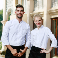 Brands checkedout Chef's Long/short Sleeve Shirt Hotel Kitchen Chef Clothing Chef Uniform Working Uniform Apron