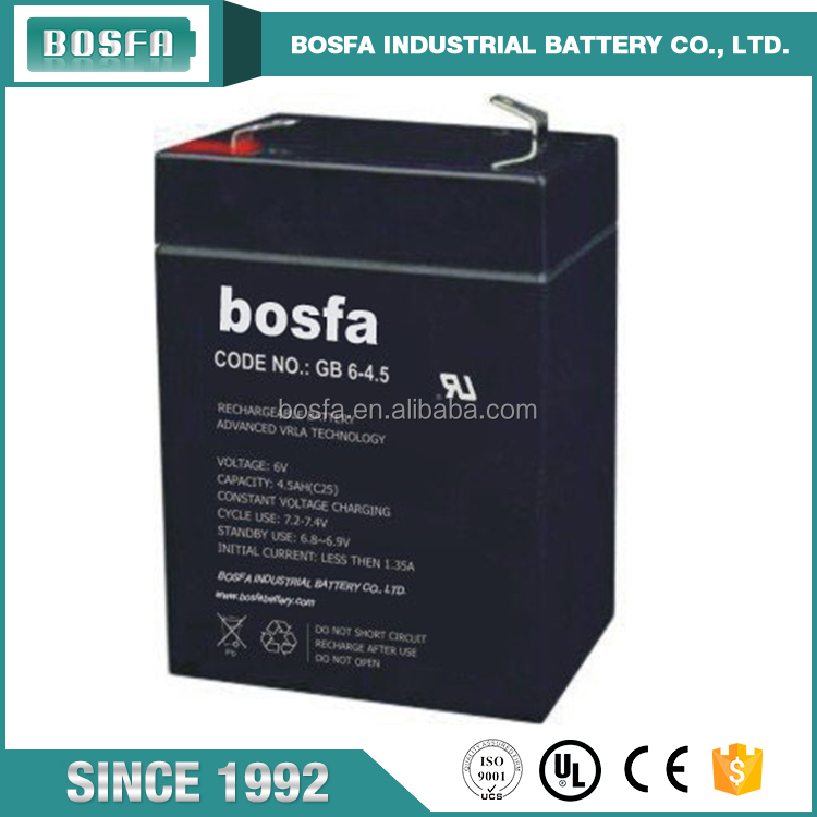 6v 4 5ah battery made in china guangzhou lead acid battery 6v 4.5ah
