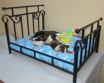 Rectangle Wrought Iron Pet Bed, Luxury Dog Bed, Metal Frame Cat Bed