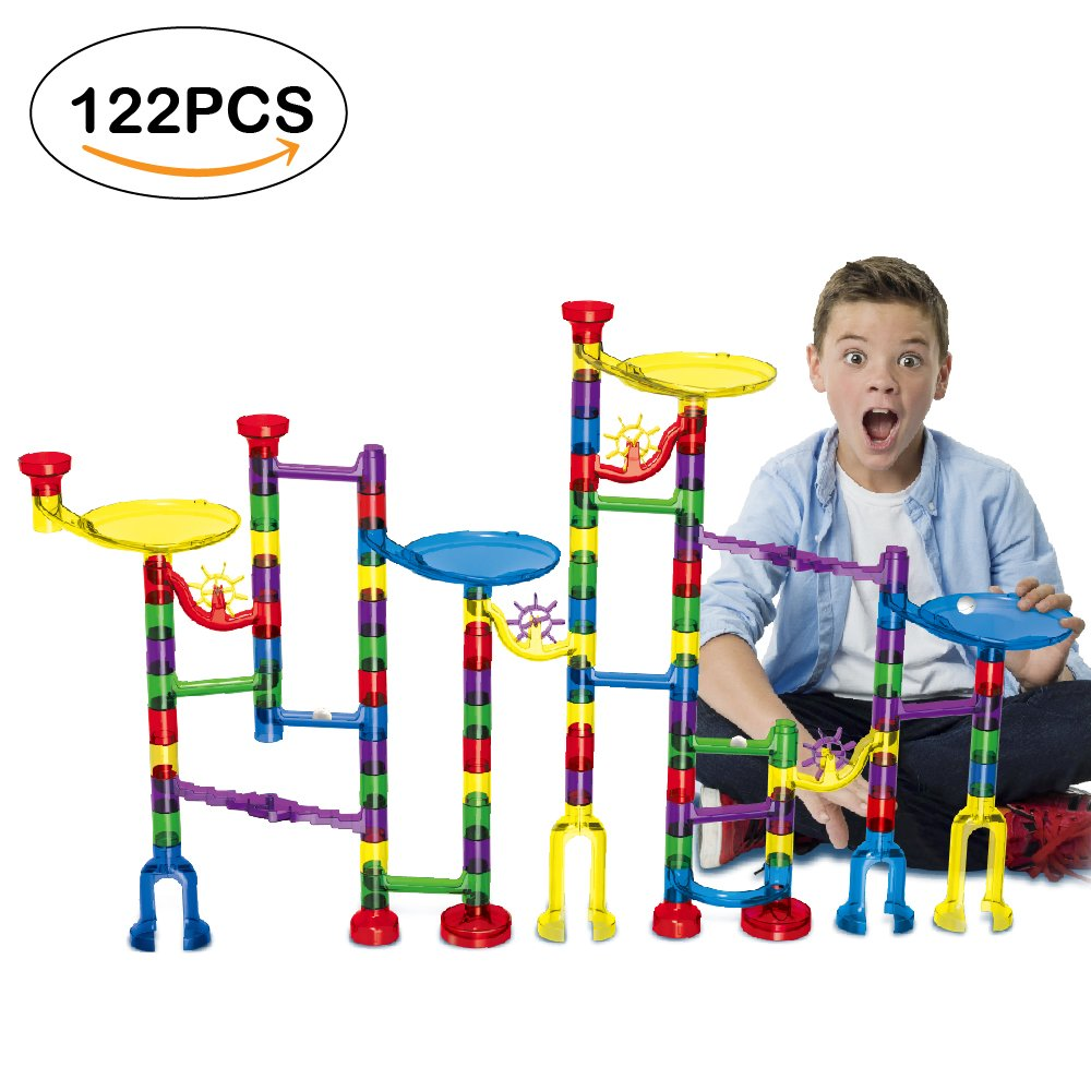 Geekper 122Pcs Marble Run Super Set for Kids Marble Game Learning  Educational Construction Building Blocks