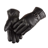 Wholesale Men's Male Winter Keep Warm Leather Gloves