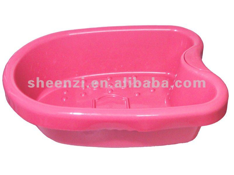 Red Plastic Foot Tub Foot Basin/ Plastic Foot Basin/rectangular ...