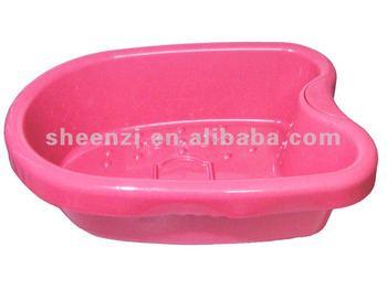 Red Plastic Foot Tub Foot Basin Plastic Foot Basinrectangular