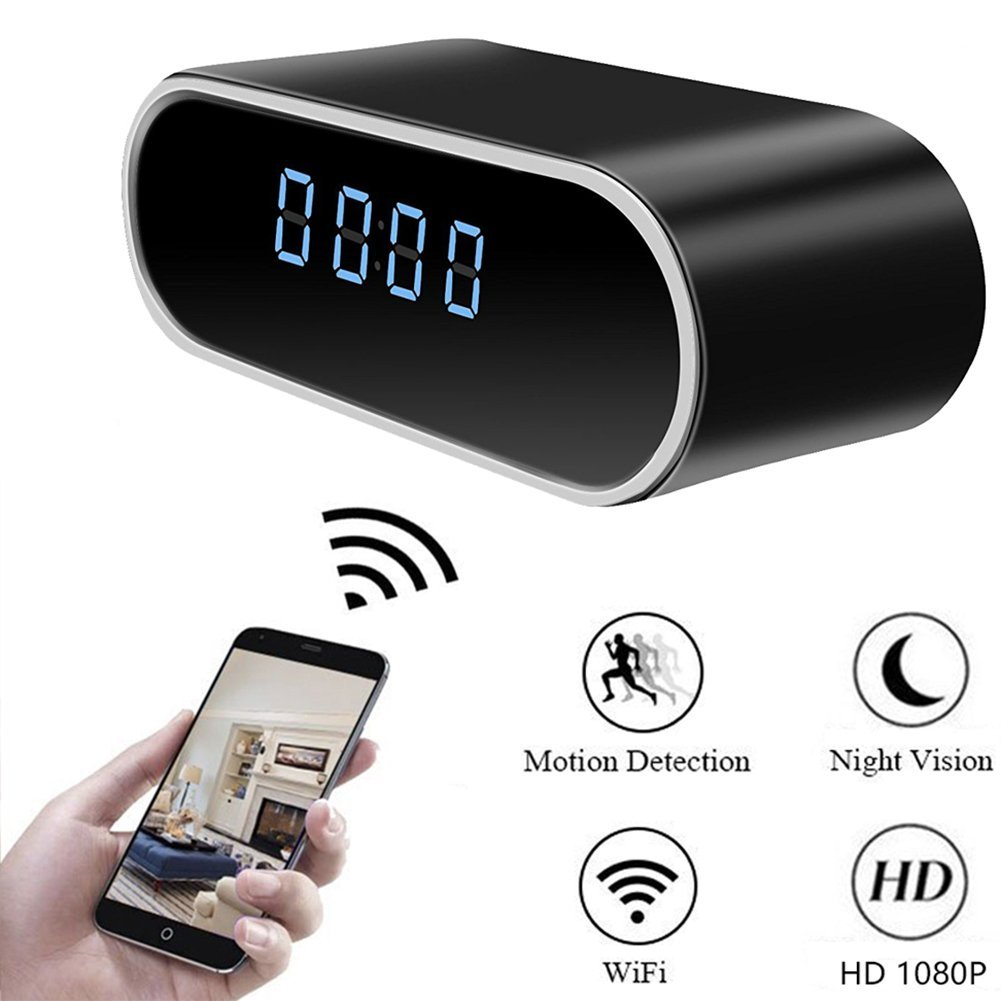 Loveboat Home Security Clock Surveillance Detective Camera Home Security Video Camcorder Mini Spy Hidden Camera Clock Support 32G SD card, 32G Card Include