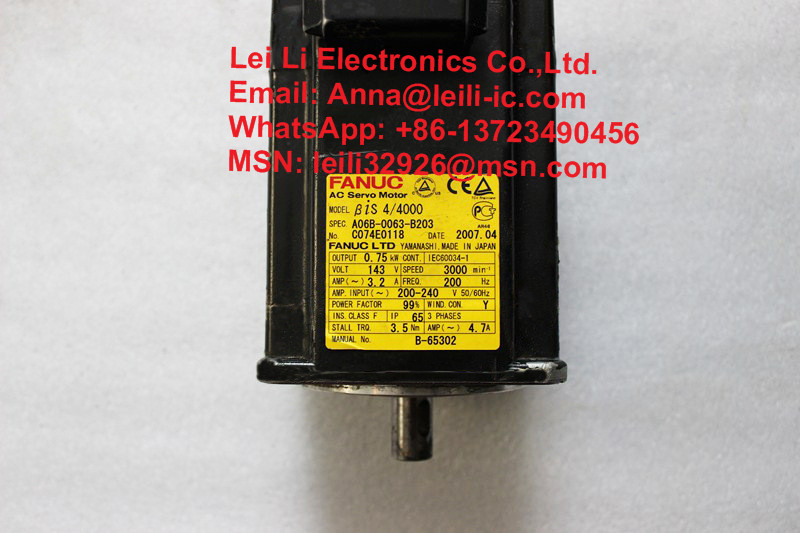 Nice Used 100% Tested A06b-0063-b203 Fanuc A06b-0063-b203 Ac Servo Motor A06b-0063-b203 Buy One Get One Free Back To Search Resultselectronic Components & Supplies