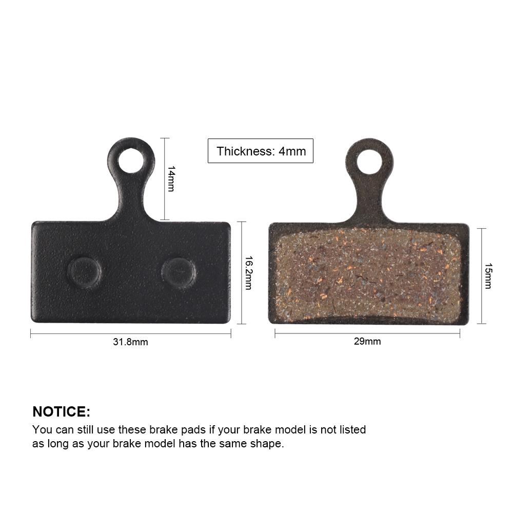 1 Pair Mountain Bike Resin Disc Brake Pads for Shimano XT M785 M615 M675