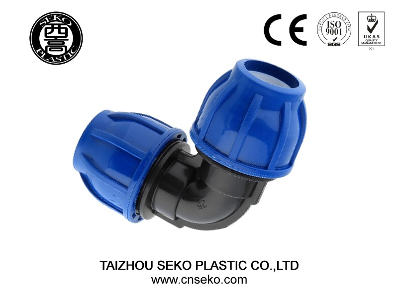 pp hdpe compression fittings/taizhou seko type reducing tee blue ...