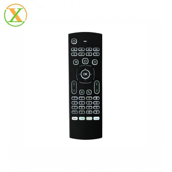 OEM print your logo Mini 2.4Ghz Wireless Keyboard 6-Axis Air Mouse   MX3 2.4g Mini Fly Air Gyro mouse backlit and voice