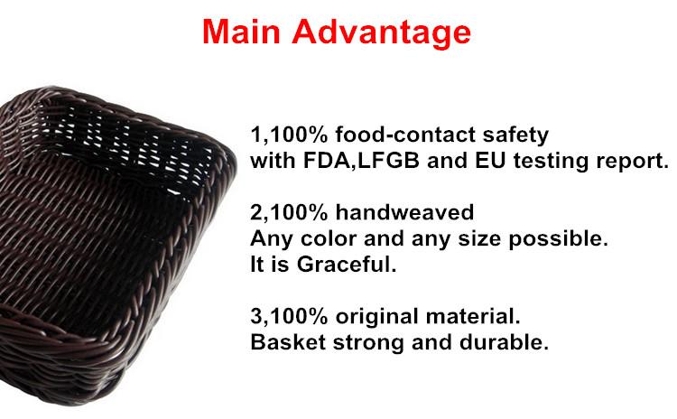 Di forma ovale in plastica di vimini cesto regalo, A Buon Mercato Luce Peso di Regalo Vuoto Cestini di Vimini Con Manico