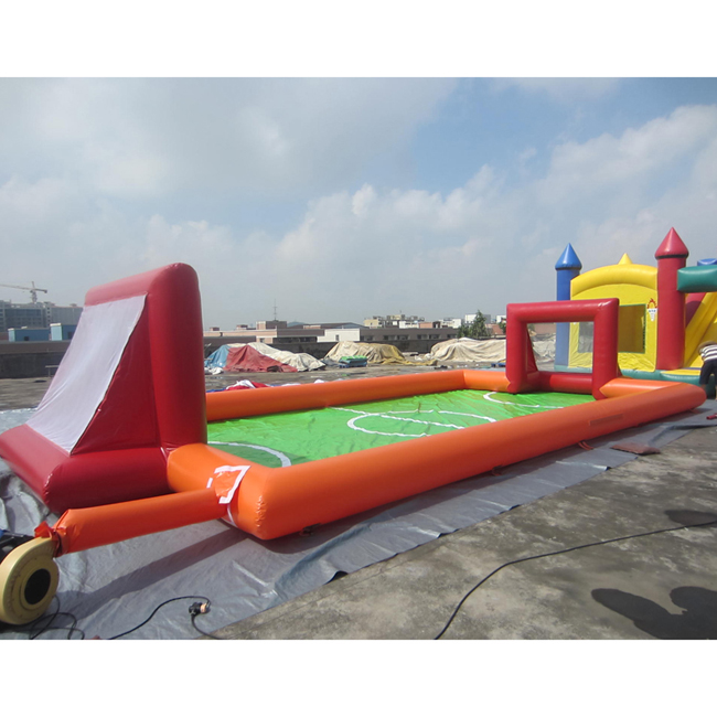 2019 Super funny sport outdoor playground inflatable soap football field 0.55mm PVC tarpaulin material