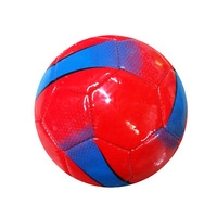 pelotas de futbol Wholesale price cheapest PVC red promotional custom logo small football size 1 mini soccer balls