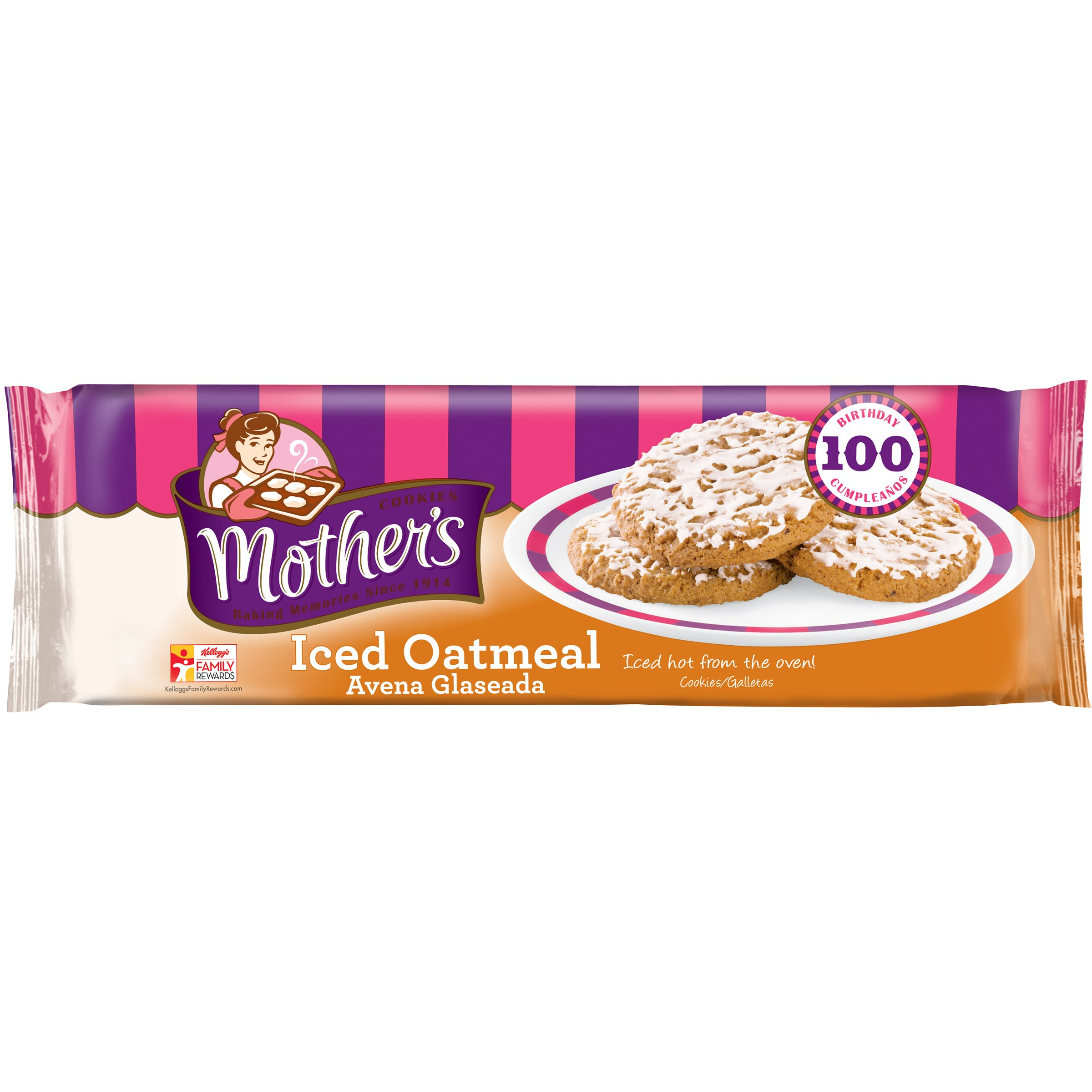 Mother's Iced Oatmeal Cookies, 13.25-Ounce Packages (Pack of 4)