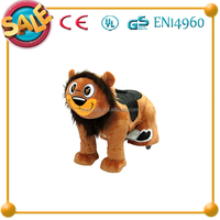 HI CE New design!!!electric plush horse toy,amusements electric rides for sale,lion electric rides for children