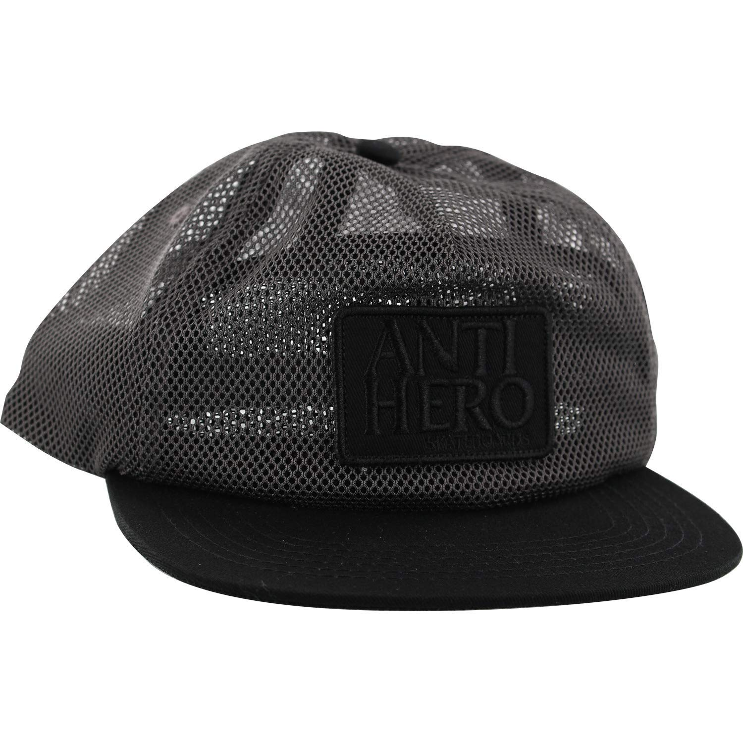 86222c833c8 Get Quotations · Anti Hero Skateboards Reserve Charcoal Black Mesh Trucker  Hat - Adjustable