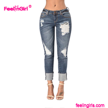 Women Jeans Feelingirl Printed Custom Jeans Manufacturers